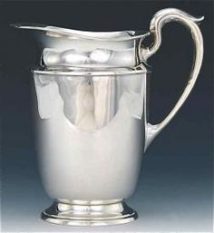 Antique Sterling Silver Water Pitcher by Gorham