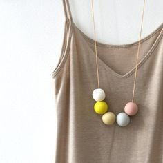 I want this - not quite round handmade beads make a necklace by notTuesday, $45.00