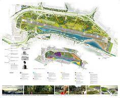 Finalista Concurso Parque Metropolitano La Carlota / Ricardo Avella Master Plan, Taj Mahal, Sci Fi, Presentation, Landscape, Building, Poster, Travel, Concept