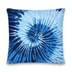Throw Pillow Cases, Throw Pillows, Blue Tie Dye, Blue Pillows, Pillow Inserts, Printing, Tapestry, Zipper