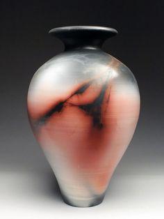 Charlie and Linda Riggs Saggar Vase at MudFire Gallery