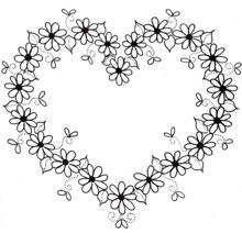 Risultati immagini per doodle borders wreath embroidery Embroidery Hearts, Hand Embroidery Patterns, Ribbon Embroidery, Embroidery Stitches, Embroidery Designs, Applique Patterns, Flower Coloring Pages, Colouring Pages, Coloring Books