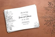 Wedding Save The Date Template @creativework247