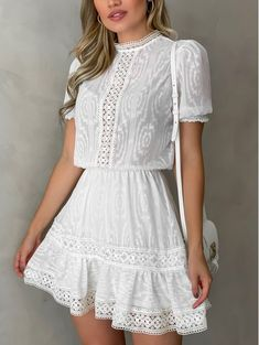Comfy Dresses, Simple Dresses, Cute Dresses, Casual Dresses, Fashion Dresses, White Outfits, Classy Outfits, Pretty Outfits, Stylish Outfits
