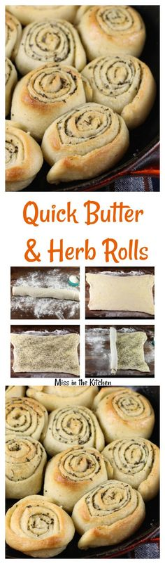 Quick Butter & Herb Rolls are the perfect compliment toany dinner or the perfect party appetizer! You will love this time- saving shortcut to rich buttery dinner rolls! I just love serving fre…
