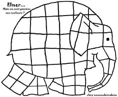 Elmer Elephant Coloring Page Elephant Crafts, Elephant Art, Nursery Stories, Elephant Template, Elmer The Elephants, Elephant Coloring Page, Elephant Colour, Lesson Plans For Toddlers, Preschool Arts And Crafts