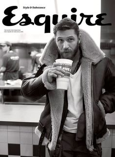 Remember the time he went to Five Guys and you found yourself jealous of a fucking cup? | 29 Times Tom Hardy Was Goddamn Human Perfection In 2015