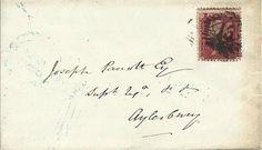 GB 1857 1d Red Stars Cover from London to Aylesbury via Buckingham  | eBay