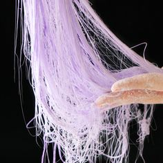Dragons Beard — Tastemade is part of Yummy food cup water 2 ½ cups sugar ¼ cup corn syrup 2 tablespoons white wine vinegar Purple food coloring, as needed Cornstarch, as needed Specia - Candy Recipes, Sweet Recipes, Dessert Recipes, Food Crafts, Diy Food, Edible Crafts, Diy Crafts, Cute Food, Yummy Food