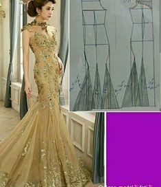 Evening Dress Patterns, Dress Sewing Patterns, Blouse Patterns, Clothing Patterns, Evening Dresses, Mermaid Skirt Pattern, Corset Pattern, Sara Fashion, Diy Clothes And Shoes