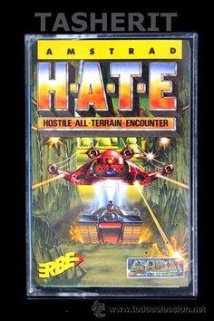 HATE - AMSTRAD CPC CINTA CASETE VERSION ESPAÑOLA ERBE JUEGO CASSETTE GREMLIN H.A.T.E.
