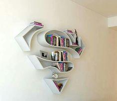 Love this superhero bookshelf
