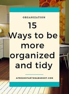 15 Ways to be more organized and tidy. Check out 15 ways to begin to Getting Rid Of Clutter, Getting Organized, How To Be More Organized, Organized Mom, Declutter Your Home, Organizing Your Home, Home Organization Hacks, Organisation Ideas, Organizing Ideas