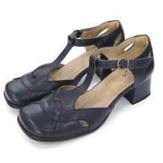 8c47616836 Sapato Boneca DALÍ SHOES Shoes Salto Grosso Baixo Azul