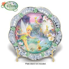 Disney Tinker Bell Fairy Dust Collector Plate: Collectible Tinker Bell Gift by The Bradford Exchange Bradford Exchange http://www.amazon.com/dp/B001L8LH5W/ref=cm_sw_r_pi_dp_cuZNtb1W4FFTHYH7