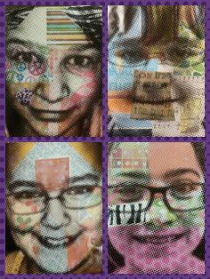Angela Anderson Art Blog: Mixed Media Portraits - Kids Art Class Photography Collage, School Photography, Picasso Self Portrait, Portrait Art, Portraits, Kids Art Class, Art For Kids, Face Collage, Middle School Art Projects