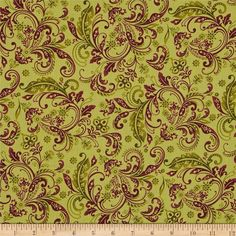 Welcome Harvest Paisley Green from @fabricdotcom  Designed by Color Principle for Henry Glass, this thanksgiving themed fabric will be sure to put you in the spirit of thanks. Perfect for quilting, apparel, and home decor accents. Colors include brown and green.