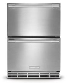 Electrolux ICON E24RD50QS 24in Built-In Double Drawer Refrigerator with 4.99 cu. ft. Capacity, LED Lighting, Fully Integrated Digital Controls, PureAdvantage Air Filter and Alarm System