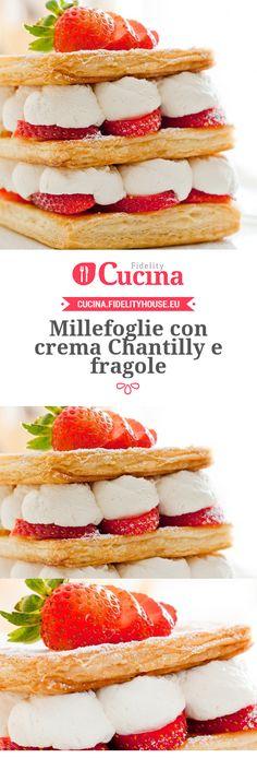 #Millefoglie con #crema Chantilly e #fragole