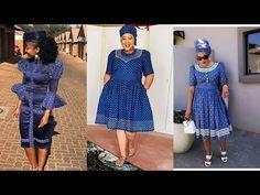 Short Lace Wedding Dress, Pretty Wedding Dresses, African Wedding Dress, Setswana Traditional Dresses, African Fashion Traditional, African Wear Dresses, African Attire, Xhosa Attire, Shweshwe Dresses