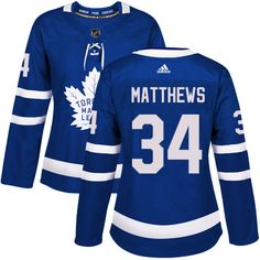 Adidas Toronto Maple Leafs #34 Women's Auston Matthews Authentic Royal Blue  Home NHL Jersey