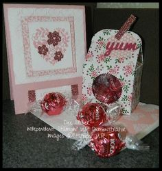 Love Blossoms Designer Paper Stack & Bloomin Love Bundle. Baker's Box Thinlit Dies and Lindor Truffles! Happy Crafting!~ Dee
