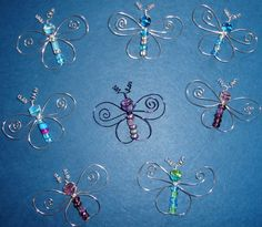 Cute Wire Butterflies with Beads