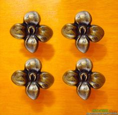 lot of 2 pcs vintage gold finishing solid brass pig piggy farm head cabinet door brass round knob drawer pull with wall protector schubladen griffe