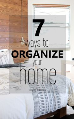 Seven simple ways to organize your home and find the storage space in a small house that you never thought you had!