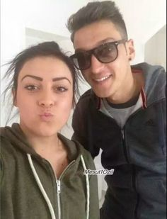 Mesut with his sister