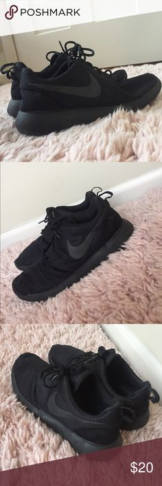 premium selection d91c3 becdc All Black Nike Athletic Shoes Nike Brand All Black Athletic Shoe Black Nike  Checks Great Condition