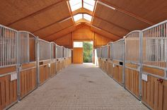 Modern German indoor horse stable barn