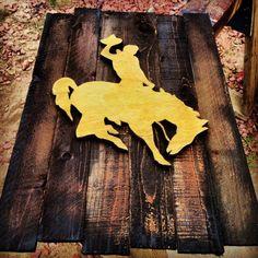 University of Wyoming Wood Sign by BowersSplinterWorks on Etsy