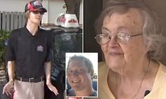Desperate grandson Eric Olsen couldn't reach grandmother Claire Olsen, 87, of Palm Coast, Florida, in the days after Hurricane Matthew, so he sent a Papa John's delivery to her house.