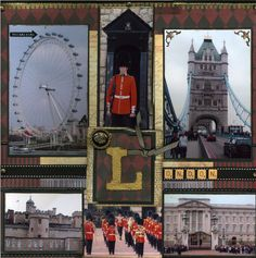 Just loved the history in London. This layout has a number of photo's from out and about in London. Travel Scrapbook Pages, Vacation Scrapbook, Scrapbook Page Layouts, Scrapbook Paper, Scrapbooking Ideas, Scrapbook Photos, Road Trip, Album, London England