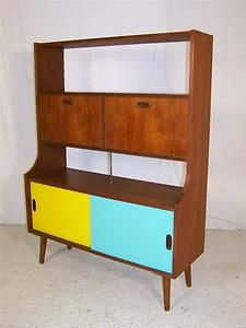 Get The Retro Look And Add A Splash Of Colour To Your Living Room With This Vintage Cabinet
