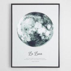 La Luna by Ilona Paliukiene with Black Frame $129