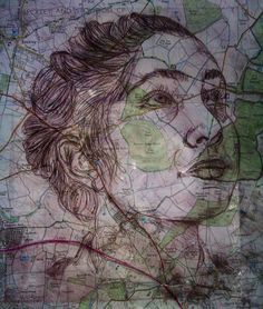 Acetate etching print : Ed Fairburn critical study for GCSE Art 'Order and Disorder' Texture Art Projects, Gcse Art Sketchbook, Map Painting, Human Figure Drawing, Etching Prints, Art Lesson Plans, Art Studies, Map Art, Urban Art