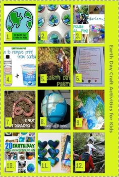 Earth Day Craft Activities for Kids...this would have been helpful a few weeks ago!