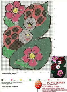 LADYBUGS WITH FLOWERS WALL HANGING by ADORABELCRAFTS.COM