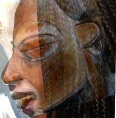 Digital photo-painting collage - Hermine Spies