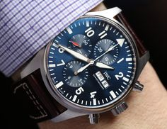 IWC Pilot's Watch Chronograph 3777 Timepieces For 2016 Hands-On | aBlogtoWatch