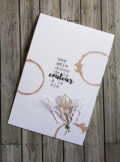 sur cette carte pleine d'amitié produits Simply Graphic utilisés: planche amitié planche taches di...