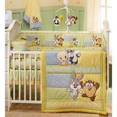 Baby LOONEY TUNES Crib Bedding NURSERY Set Bugs Bunny TAZ Out To Play TWEETY