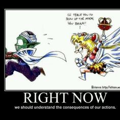 Lol yay for a dbz and sailor moon crossover :p