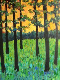 Trees and Early Morning Light por pattyabaker en Etsy