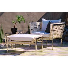 Twin Palms Chair and Ottoman