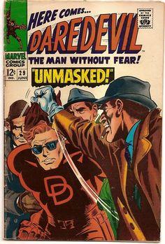 SILVER AGE 1967 DAREDEVIL #29 MARVEL COMICS UNMASKED!