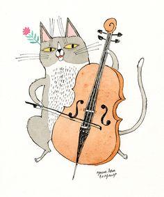 Borbotos e Barbelas: The Cello Cat