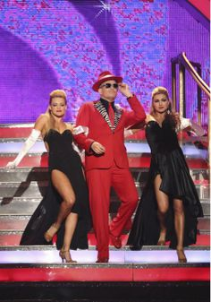 """Cheryl Burke & Drew Carey Tango'd to """"Super Freak"""" by Rick James - Dancing With the Stars - Week 6 - Season 18 - Score - = 32 of 40 possible points Party Anthem, Emma Slater, Witney Carson, Drew Carey, Cheryl Burke, Rick James, Night Photos, Dancing With The Stars"""